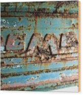 1955 Gmc Truck Tailgate Wood Print