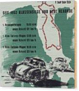 1955 Mille Miglia Porsche Poster Wood Print
