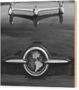 1955 Oldsmobile Holiday 88 Hood Ornament 2 Wood Print