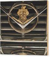1955 Packard Hood Ornament Emblem Wood Print