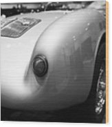 1955 Porsche 550 Rs Spyder . Black And White Photograph . 7d9453 Wood Print
