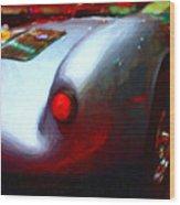 1955 Porsche 550 Rs Spyder . Painterly Style Wood Print