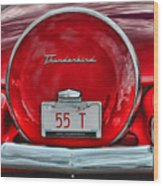 1955 Thunderbird Wood Print