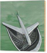 1956 Buick Riviera Hood Ornament Wood Print