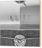 1956 Buick Special Hood Ornament - Emblem -0538bw Wood Print