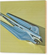 1956 Cadillac Sedan Deville Hood Ornament 2 Wood Print by Jill Reger