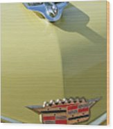 1956 Cadillac Sedan Deville Hood Ornament Wood Print