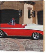 1956 Chevrolet Belair Convertible Wood Print