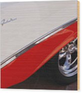 1956 Chevrolet Belair Convertible Wheel Wood Print