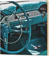 1956 Chevrolet Belair Interior Hdr No 1 Wood Print