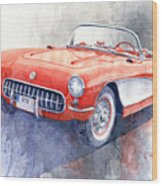 1956 Chevrolet Corvette C1 Wood Print