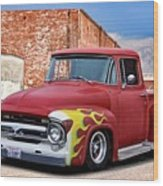 1956 Ford F100 'brickyard' Pickup Wood Print