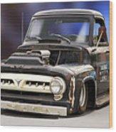 1956 Ford F100 'workingmans' Pickup II Wood Print