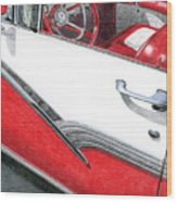 1956 Ford Fairlane Convertible 2 Wood Print