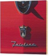 1956 Ford Fairlane Hood Ornament 2 Wood Print