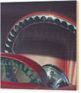 1956 Ford Thunderbird Speedometer - Steering Wheel -0714c Wood Print
