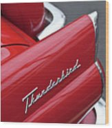 1956 Ford Thunderbird Taillight Emblem 2 Wood Print