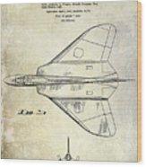 1956 Jet Airplane Patent 2 Blue Wood Print
