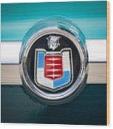 1956 Mercury Monterey Emblem Wood Print