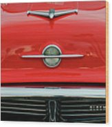 1956 Oldsmobile Hood Ornament 4 Wood Print by Jill Reger
