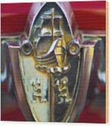 1956 Plymouth Belvedere Emblem 2 Wood Print