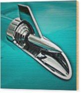 1957 Bel Air Hood Ornament Wood Print