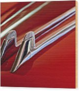 1957 Cadillac Eldorado Biarritz Hood Ornament Wood Print