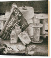 1957 Calendar Bw Wood Print