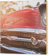 1957 Chevrolet Bel Air Sunset Wood Print