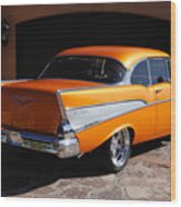 1957 Chevrolet Belair Coupe Wood Print