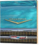 1957 Chevrolet Belair Grille 2 Wood Print