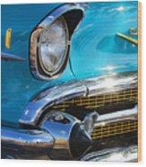 1957 Chevrolet Belair Grille Wood Print