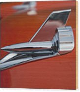 1957 Chevrolet Hood Ornament Wood Print