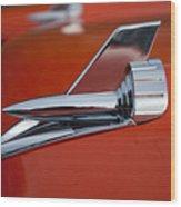 1957 Chevrolet Hood Ornament Wood Print
