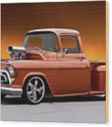 1957 Chevrolet Stepside Pickup L Wood Print