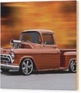 1957 Chevrolet Stepside Pickup Ll Wood Print
