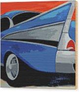 1957 Chevy Bel Air Wood Print