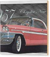 1957 Chrysler New Yorker Wood Print