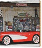 1957 Corvette Hackberry Arizona Wood Print
