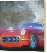 1957 Corvette Hot Rod Wood Print