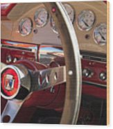 1957 Ford Fairlane Steering Wheel Wood Print