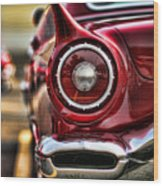 1957 Ford Thunderbird Red Convertible Wood Print