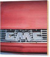1957 Gmc Pickup Truck Grille Emblem -0329c1 Wood Print