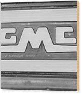 1957 Gmc Pickup Truck Tail Gate Emblem -0272bw2 Wood Print