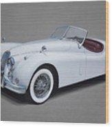 1957 Jaguar Xk140 Wood Print
