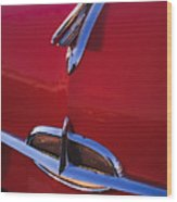 1957 Oldsmobile Hood Ornament 4 Wood Print