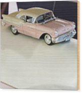 1957 Oldsmobile Super 88 Matchbox Car Wood Print