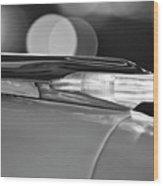 1957 Pontiac Bonneville Hood Ornament - Fender Spear 2 Wood Print