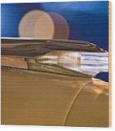 1957 Pontiac Bonneville Hood Ornament - Fender Spear Wood Print