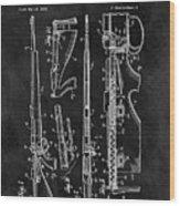 1957 Rifle Patent Illustration Wood Print